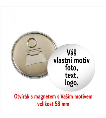 Placka otvírák přívěšek Vlastní motiv 58 mm