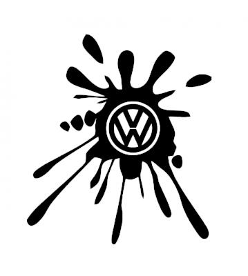Kaňka VW 1 samolepka na auto