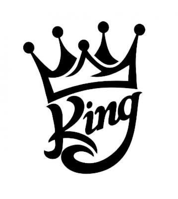 King 1 samolepka na auto