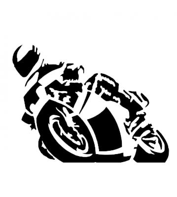 Motorka silueta 1 samolepka na auto