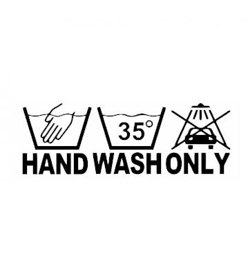 Hand wash only samolepka na auto