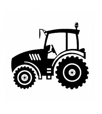 Traktor silueta 4 samolepka na auto