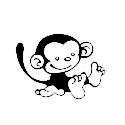 Opička 1 samolepka na auto