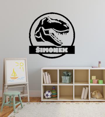 Dino obraz se jménem samolepka na zeď