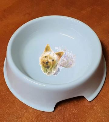 Porcelánová miska pro psy Jorkšír