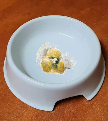 Porcelánová miska pro psy Pudl světlý