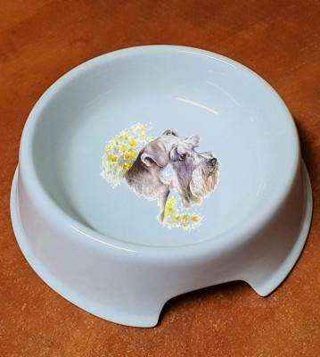 Porcelánová miska pro psy Knírač