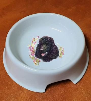 Porcelánová miska pro psy Pudl černý