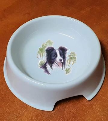 Porcelánová miska pro psy Border Kolie