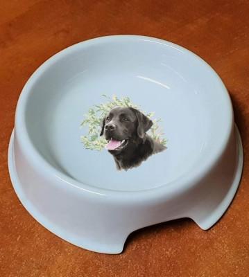 Porcelánová miska pro psy Labrador hnědý