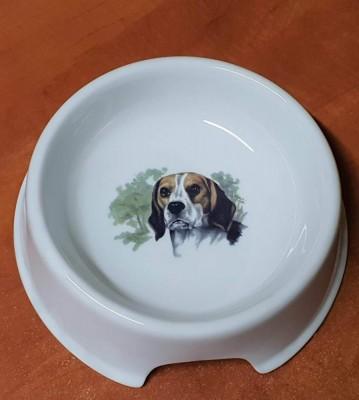 Porcelánová miska pro psy Bígl