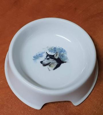 Porcelánová miska pro psy Malamut