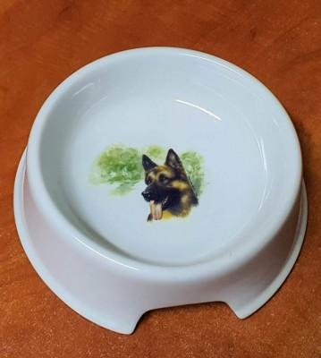 Porcelánová miska pro psy Německý ovčák