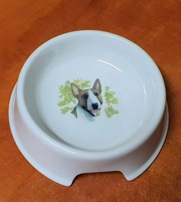 Porcelánová miska pro psy Bullteriér