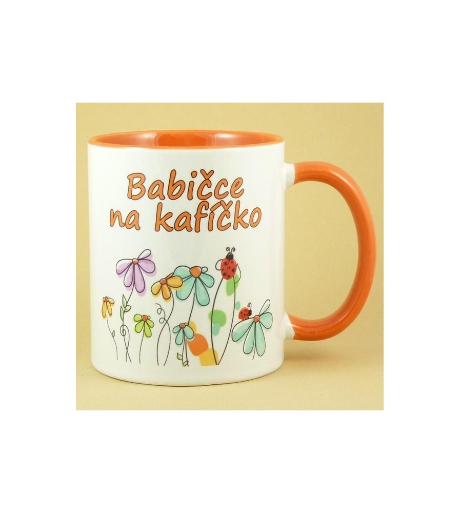 Babičce na kafíčko oranžový vnitřek a ucho