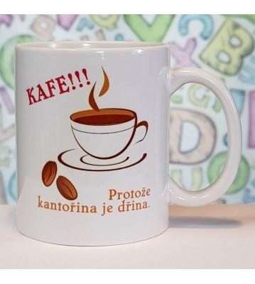 Hrnek Kafe, protože kantořina je dřina