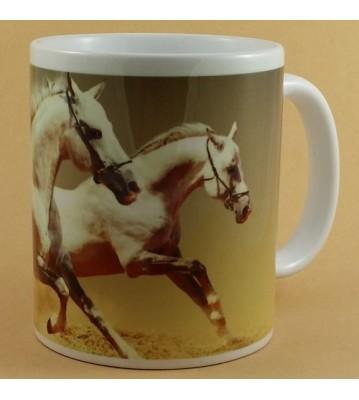 Hrnek Bílí koně v běhu