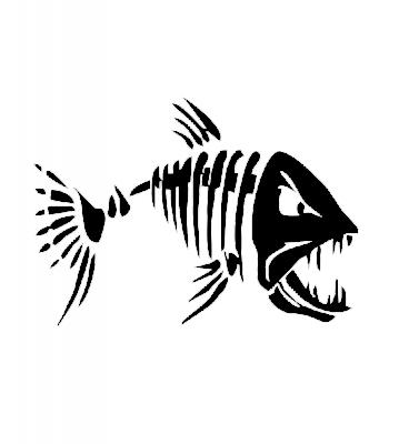 Samolepka na auto - Kostra ryby 1