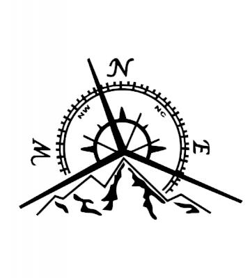 Kompas 1 samolepka na auto