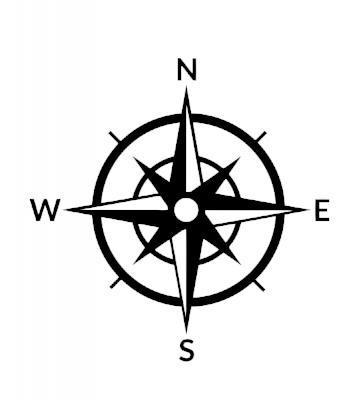 Kompas 2 samolepka na auto