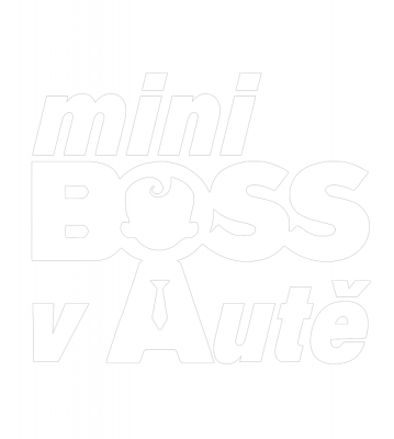 Mini Boss v autě samolepka na auto