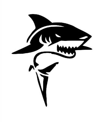 Žralok samolepka na auto