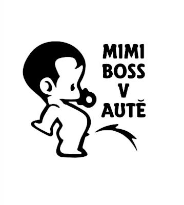 Mini Boss je v autě samolepka na auto