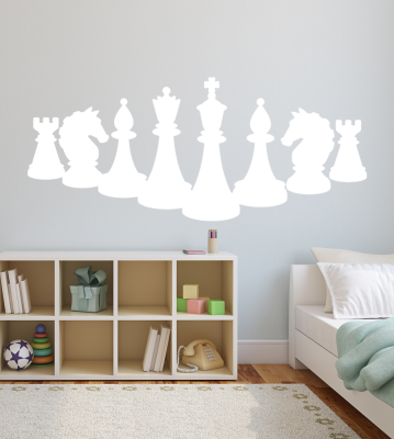 Šachy samolepka na zeď