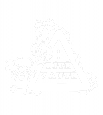 Dítě v autě Holka značka samolepka na auto
