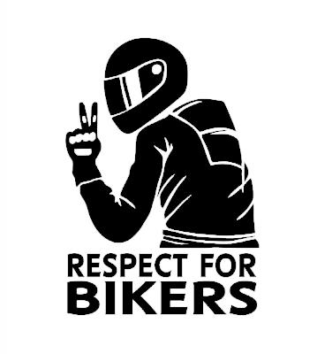 Respect for bikers samolepka na auto