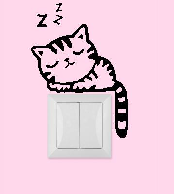 Samolepka k vypínači - zásuvce Kočka