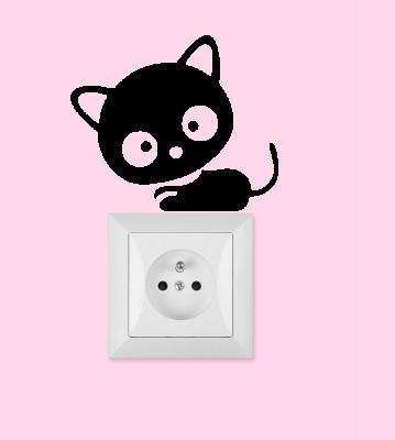 Samolepka k vypínači - zásuvce Kočička
