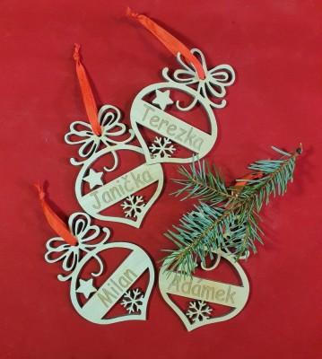 Vánoční ozdoba Baňka se jménem