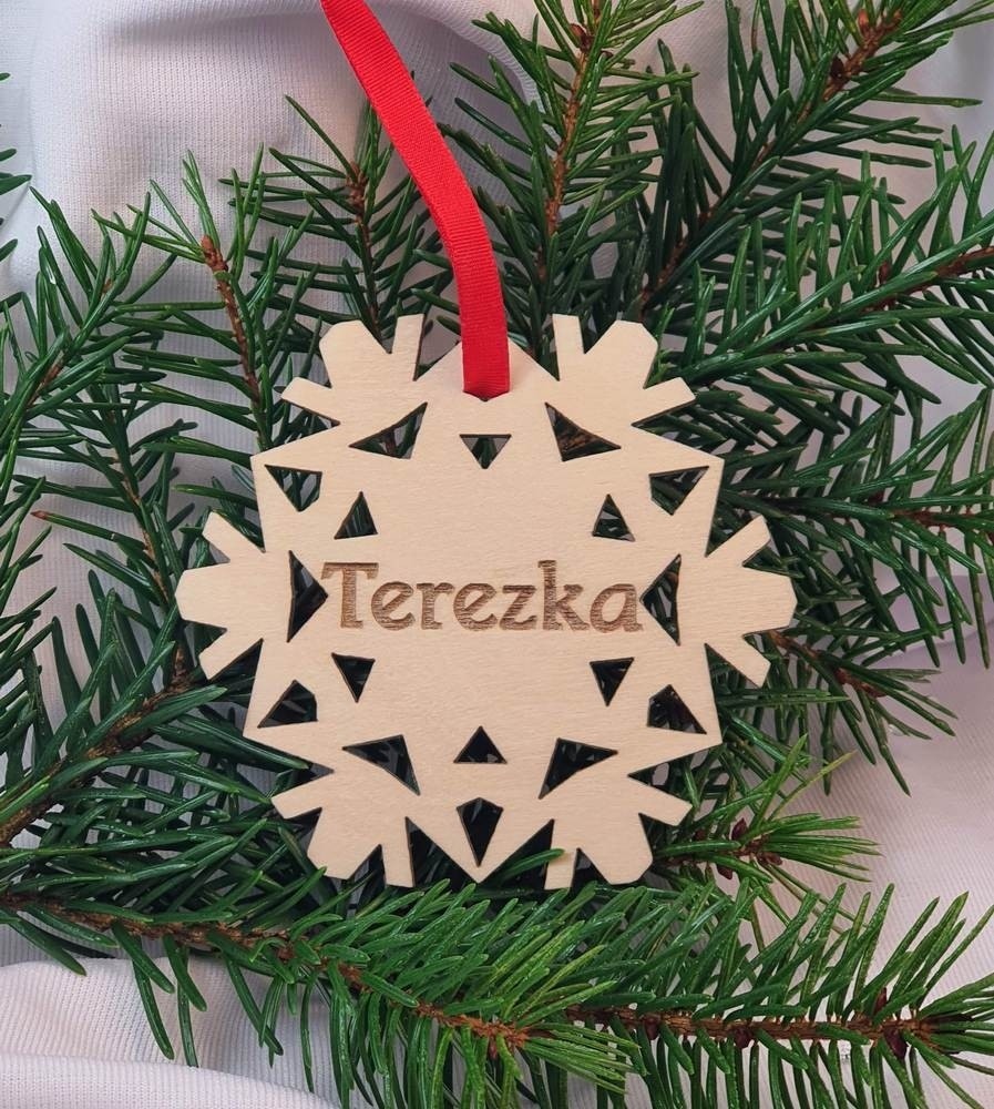 Vánoční vločka se jménem