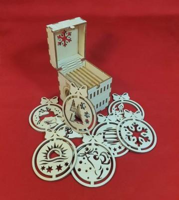 Vánoční ozdoby ve stylové krabičce