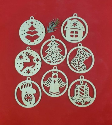 Vánoční baňky sada 8 ks kombinace 2