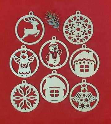 Vánoční baňky sada 8 ks kombinace 4
