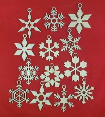 Vánoční sněhové vločky sada 13 ks
