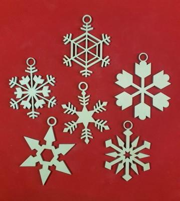 Vánoční sněhové vločky menší sada 6 ks