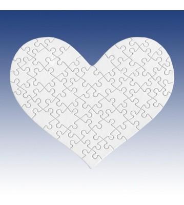 Puzzle tvar srdce s fotkou 63 dílů 200x250 mm
