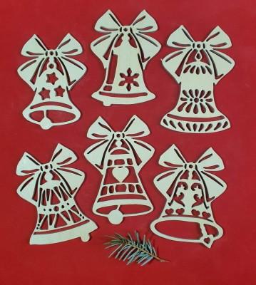 Vánoční zvonky sada 6 ks