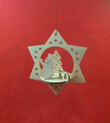 Vánoční ozdoba hvězda 3d