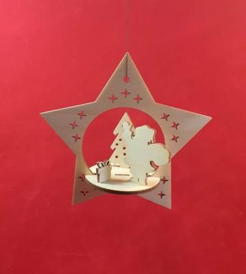 Vánoční ozdoba hvězda 3d verze 2