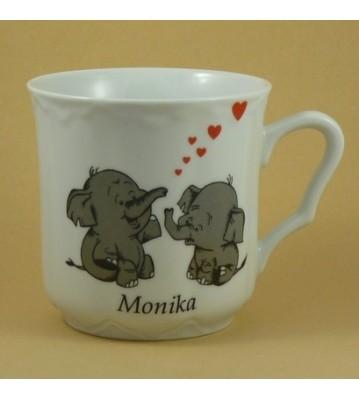 Hrnek se jménem pro dospěláky Sloni pro štěstí
