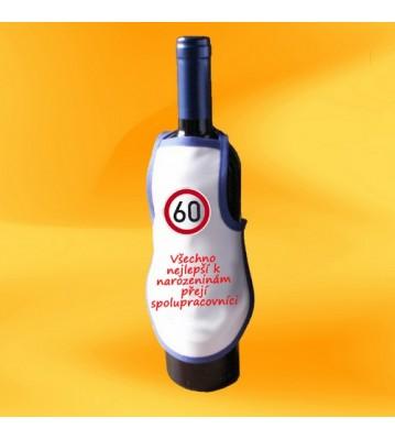 Minizástěra s potiskem na láhev