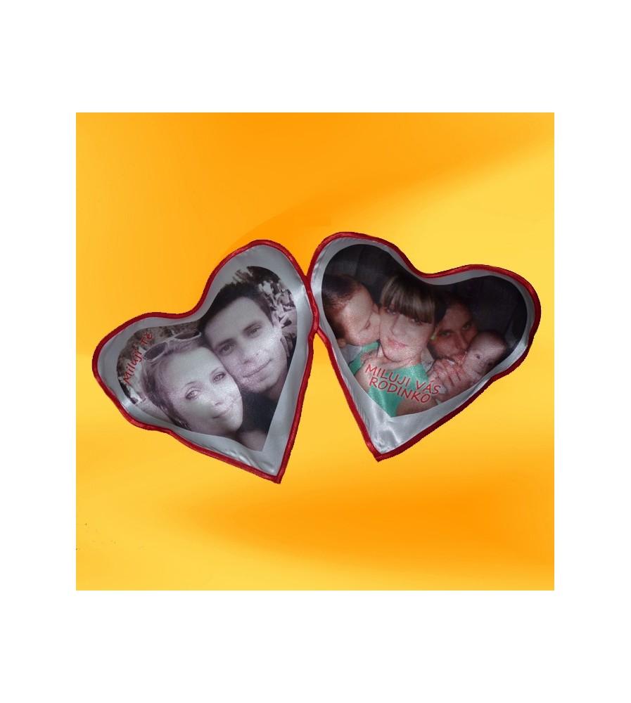 Polštář srdce 30x30 cm s fotkou