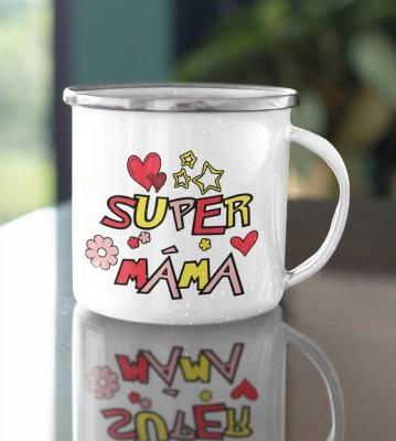 Hrnek plechový s potiskem Super máma