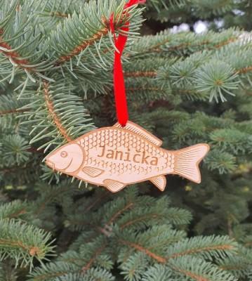 Vánoční ozdoba Kapr se jménem