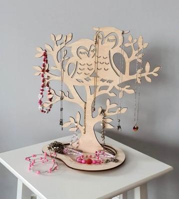 Stojan na šperky Strom dvě sovy