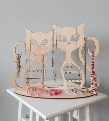 Stojan na šperky Dvě kočky